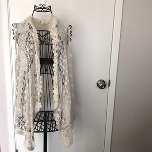 Late for dinner Laced overcoat - Size L